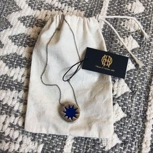 House of Harlow Silver Suede Cobalt Blue Mini